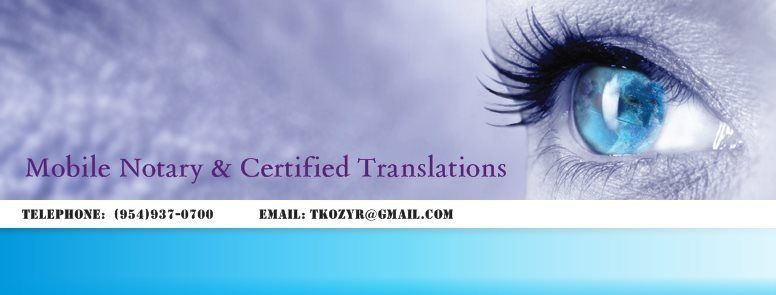 Mobile Notary and Certified Translation Services